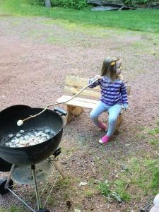 Olive roasting marshmallows
